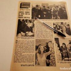 Coleccionismo de Revistas y Periódicos: PASCALE AUDRET Y FRANCIS DREY REVERSO RINGO STAR LOS BEATLES, CHARLES AZNAVOUR RECORTE REVISTA 1965. Lote 261876860