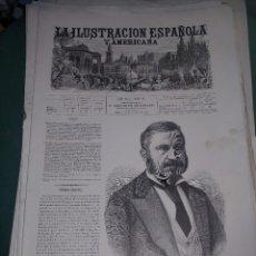 Coleccionismo de Revistas y Periódicos: LA ILUSTRACION ESPAÑOLA Y AMERICANA MANUEL OBOVIO MARQUES. Lote 262041425