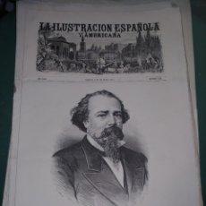 Coleccionismo de Revistas y Periódicos: LA ILUSTRACION ESPAÑOLA Y AMERICANA ADELARDO LOPEZ DE AYALA. Lote 262042305