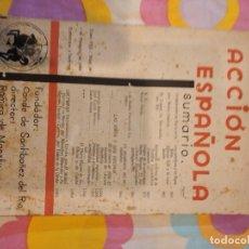 Coleccionismo de Revistas y Periódicos: BAL-42 REVISTA ACCIÓN ESPAÑOLA TOMO VIII Nº 46 1 DE FEBRERO 1934,CONDE DE SANTIBAÑEZ DEL RIO, RAMI. Lote 262137290