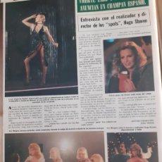Coleccionismo de Revistas y Periódicos: ANUNCIO CARTA NEVADA CHERYL LADD ANN MARGRET NORMA DUVAL FOLIES BERGERE LOS ANGELES DE CHARLIE. Lote 262320695