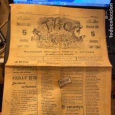 Coleccionismo de Revistas y Periódicos: VALENSIA ANTIGUA REVISTA /SEMANARIO - LA TRONA -N.387 VALENSIA 28 AGOST 1909 AÑ XVI EPOCA IV SEMANA. Lote 262378155