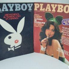 Coleccionismo de Revistas y Periódicos: LOTE PLAYBOY NÚMERO 1 Y 2. EDICIÓN ESPAÑOLA. 1978. PLAY BOY. Lote 262493340