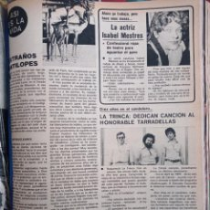 Collectionnisme de Revues et Journaux: ISABEL MESTRES LA TRINCA RAMIRO A CALLE. Lote 262586855