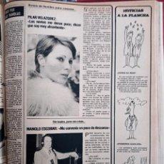 Coleccionismo de Revistas y Periódicos: MANOLO ESCOBAR PILAR VELAZQUEZ. Lote 262628095
