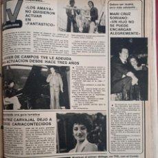 Coleccionismo de Revistas y Periódicos: BEATRIZ CARVAJAL LOS AMAYA MARI CRUZ SORIANO. Lote 262628185