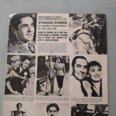 Collectionnisme de Revues et Journaux: HOJA REVISTA ORIGINAL ANTIGUA. TYRONE POWER MURIO EN MADRID EN 1958. Lote 262746510