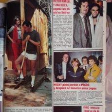Coleccionismo de Revistas y Periódicos: ANA BELEN VICTOR MANUEL PECOS JOSE MARIA IÑIGO MICKY. Lote 262747370