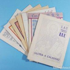 Coleccionismo de Revistas y Periódicos: 7 REVISTAS LAS TRES R.R.R. GLORIA A CALASANZ, ESCUELAS PIAS DE BARBASTRO AÑOS 60, ESCOLAPIOS, 3 RRR. Lote 262774740
