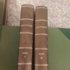 Coleccionismo de Revistas y Periódicos: REVISTA LECTURAS 1925. AÑO COMPLETO.. Lote 262813140
