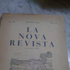 Coleccionismo de Revistas y Periódicos: PRPM 63 LA NOVA REVISTA JOSÉP MARIA JUNOY VOL IX . NUM 31. Lote 262813375