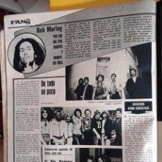 Coleccionismo de Revistas y Periódicos: BOB MARLEY ALMANZORA EL DUO DINAMICO SANTANA JOAQUIN PRAT. Lote 262824300