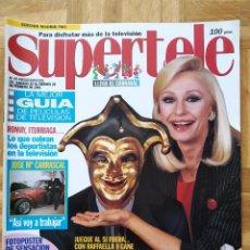 Coleccionismo de Revistas y Periódicos: REVISTA SUPERTELE 49. RAFFAELLA CARRA. GILA. CARRASCAL. LUKE PERRY JASON PRIESTLEY. RAMBO. ABIGAIL. Lote 262859565