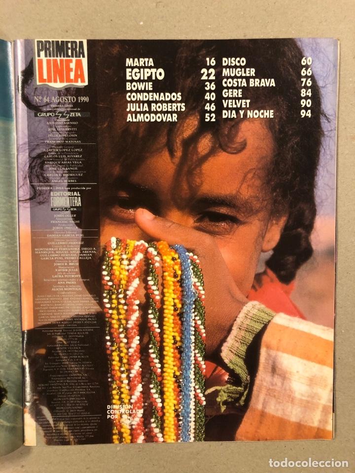 Coleccionismo de Revistas y Periódicos: PRIMERA LÍNEA N° 64 (1990). MARTA SÁNCHEZ Y JAIME URRUTIA, PEDRO ALMODÓVAR, DAVID BOWIE, VELVET UNDE - Foto 2 - 262909210
