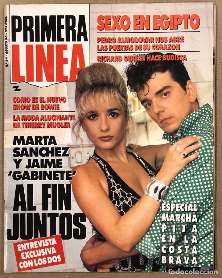 PRIMERA LÍNEA N° 64 (1990). MARTA SÁNCHEZ Y JAIME URRUTIA, PEDRO ALMODÓVAR, DAVID BOWIE, VELVET UNDE (Coleccionismo - Revistas y Periódicos Modernos (a partir de 1.940) - Otros)