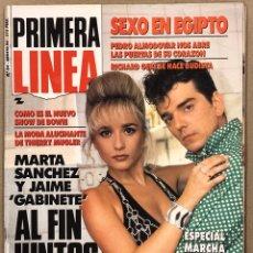 Coleccionismo de Revistas y Periódicos: PRIMERA LÍNEA N° 64 (1990). MARTA SÁNCHEZ Y JAIME URRUTIA, PEDRO ALMODÓVAR, DAVID BOWIE, VELVET UNDE. Lote 262909210