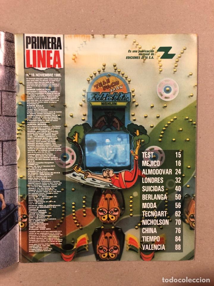 Coleccionismo de Revistas y Periódicos: PRIMERA LÍNEA N° 19 (1986). PEDRO ALMODÓVAR, MOVIDA VALENCIANA, JACK NICHOLSON,.., - Foto 2 - 262912590
