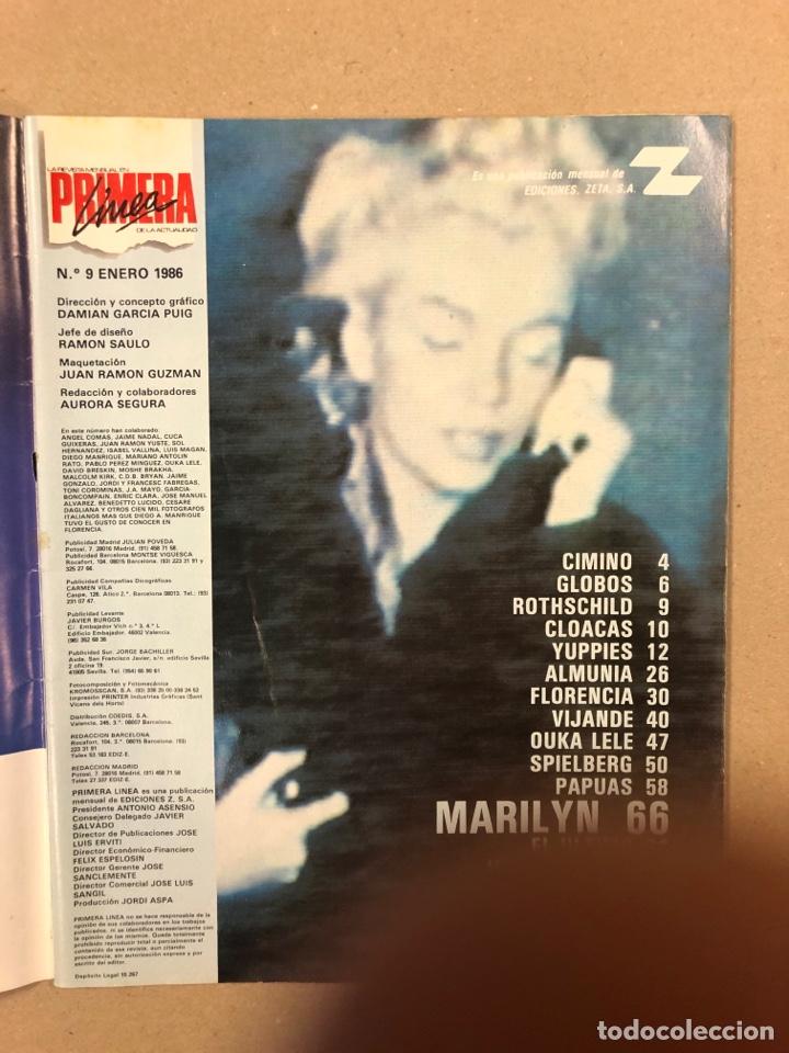 Coleccionismo de Revistas y Periódicos: PRIMERA LÍNEA N° 9 (1986). EL ÚLTIMO DE LA FILA, OUKA LELE, SPIELBERG, MARILYN MONROE,... - Foto 2 - 262913095