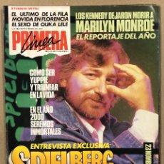 Coleccionismo de Revistas y Periódicos: PRIMERA LÍNEA N° 9 (1986). EL ÚLTIMO DE LA FILA, OUKA LELE, SPIELBERG, MARILYN MONROE,.... Lote 262913095
