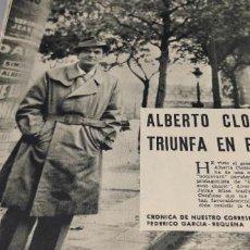 Coleccionismo de Revistas y Periódicos: REPORTAJE (ALBERTO CLOSAS TRIUNFA EN PARIS) AUTOR GARCIA-REQUENA AÑO 1964-- 4 PAGINAS. Lote 262918210