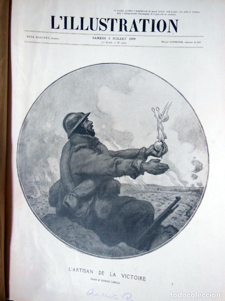 Coleccionismo de Revistas y Periódicos: LILLUSTRATION. 2 tomos. Janvier 1919 - Décembre 1919. - Foto 6 - 262931645
