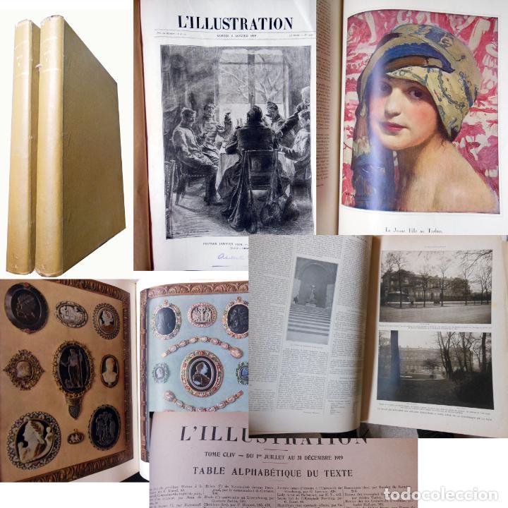 L'ILLUSTRATION. 2 TOMOS. JANVIER 1919 - DÉCEMBRE 1919. (Coleccionismo - Revistas y Periódicos Antiguos (hasta 1.939))