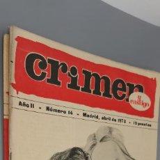 Coleccionismo de Revistas y Periódicos: CRIMEN Y CASTIGO. Nº 14. JUDAS. MADRID, ABRIL 1973.(. Lote 262951315