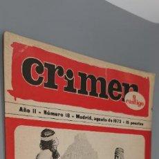 Coleccionismo de Revistas y Periódicos: CRIMEN Y CASTIGO, NUMERO 18, AGOSTO DE 1973, (LA TORRE DE BABEL). Lote 262951975