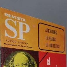 Coleccionismo de Revistas y Periódicos: REVISTA SP Nº 416. 1968. EL ANARQUISMO Y SUS RETOÑOS TERRIBLES. LA FALANGE SOCIALISTA Y DEMOCRÁTICA. Lote 262952095