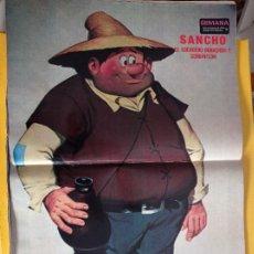Coleccionismo de Revistas y Periódicos: DON QUIJOTE LA SERIE DE ANIMACION POSTER SANCHO PANZA. Lote 263055380