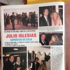 Coleccionismo de Revistas y Periódicos: JULIO IGLESIAS EN ITALIA EL DUO DINAMICO PALOMA GOMEZ BORRERO SYDNE ROME. Lote 263061560