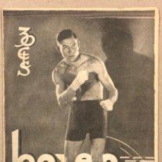 """Coleccionismo de Revistas y Periódicos: REVISTA BOXEO N° 554 (1935). JOSÉ GIRONÉS, JOSÉ HERNÁNDEZ """"MORO"""", FENOY II, JOE LOUIS, GASTAÑAGA,.... Lote 263064335"""