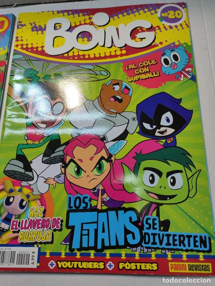 Coleccionismo de Revistas y Periódicos: Revista Boing lote 2 números 1 y 20 buen estado - Foto 3 - 263065065