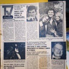 Coleccionismo de Revistas y Periódicos: RICHARD OSULLIVAN JOHN WAYNE ROBERT STACK. Lote 263098370
