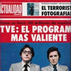 Coleccionismo de Revistas y Periódicos: REVISTA ACTUALIDAD 1975, Nº 1204, JUAN CARLOS CALDERON, PACO DE LUCIA, FOTOS ORIGINALES. Lote 263152325