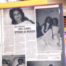 Coleccionismo de Revistas y Periódicos: LOLA FLORES MENISCO. Lote 263165585