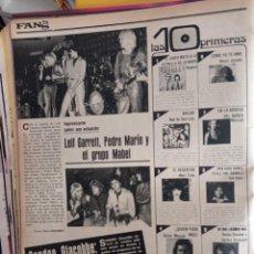 Coleccionismo de Revistas y Periódicos: LEIF GARRETT PEDRO MARIN MABEL SANDRO GIACOBBE MARISOL BUGGLES ROCIO JURADO IVAN. Lote 263184620