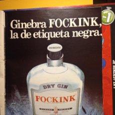 Coleccionismo de Revistas y Periódicos: ANUNCIO GINEBRA GIN FOCKINK. Lote 263216450