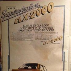 Coleccionismo de Revistas y Periódicos: ANUNCIO SEAT SUPERMIRAFIORE CLX 2000. Lote 263216480