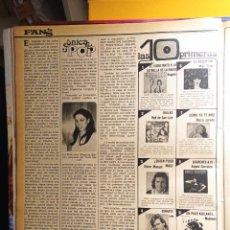 Coleccionismo de Revistas y Periódicos: ANA BELEN BUGGLES MARISOL PEPA FLORES ROCIO JURADO. Lote 263216650