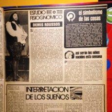 Coleccionismo de Revistas y Periódicos: DEMIS ROUSSOS. Lote 263216795