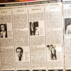 Coleccionismo de Revistas y Periódicos: MARY TYLER MOORE LOS PAYASOS DE LA TELE JULIO CESAR. Lote 263216835