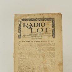 Coleccionismo de Revistas y Periódicos: RADIO LOT, 1927, PUBLICACIÓ MENSUAL DEDICADA A LA RADIOTELEFONIA, AÑO III, NÚMERO 16, BARCELONA.. Lote 263271645