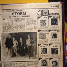 Coleccionismo de Revistas y Periódicos: STORM ROCK ANDALUZ MARISOL PEDRP MARIN IVAN BUGGLES RED DE SAN LUIS MADNESS ANGELA CARRASCO. Lote 263518565