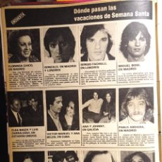 Coleccionismo de Revistas y Periódicos: MIGUEL GALLARDO CAMILO SESTO LOLA FLORES LOLITA MIGUEL BOSE GONZALO FACCHELLI FLORINDA CHICO. Lote 263536275