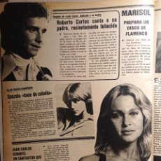 Coleccionismo de Revistas y Periódicos: JUAN CARLOS SENANTE GONZALO PEPA FLORES MARISOL ROBERTO CARLOS. Lote 263544590