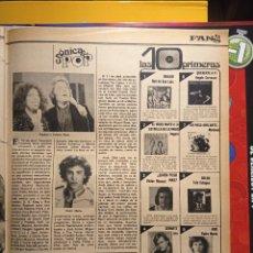 Coleccionismo de Revistas y Periódicos: RAPHAEL ROBERTA FLACK JERRY LEWIS JAIME MOREY PEDRO MARIN MARISOL IVAN. Lote 263545020