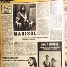 Coleccionismo de Revistas y Periódicos: MARISOL ENRIQUE Y ANA PABLO ABRAIRA. Lote 263561625
