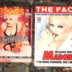 Coleccionismo de Revistas y Periódicos: MADONNA LOTE 2 REVISTAS THE FACE Y DETAILS 1994. Lote 263796980