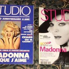 Coleccionismo de Revistas y Periódicos: MADONNA LOTE 2 REVISTAS STUDIO FRACESAS. Lote 263797895